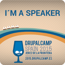 Badge Speaker Drupal Camp Spain 2015