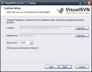 Instalación de VisualSVN Server